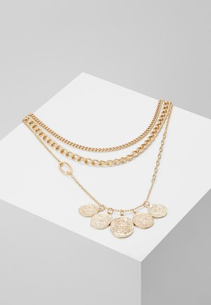 COIN CLUSTER MULTI LAYER 3 PACK - Necklace - gold-coloured