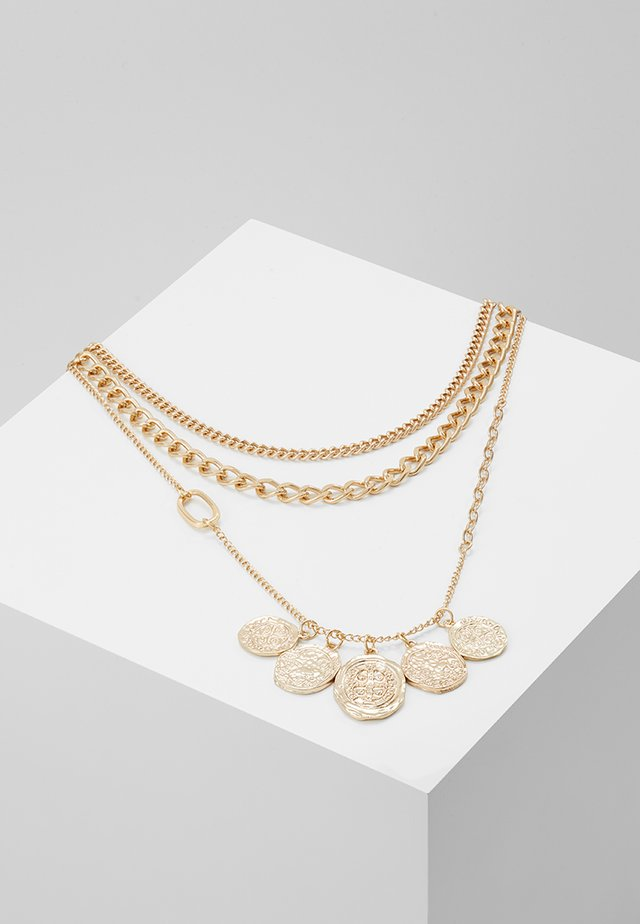 COIN CLUSTER MULTI LAYER 3 PACK - Halsband - gold-coloured