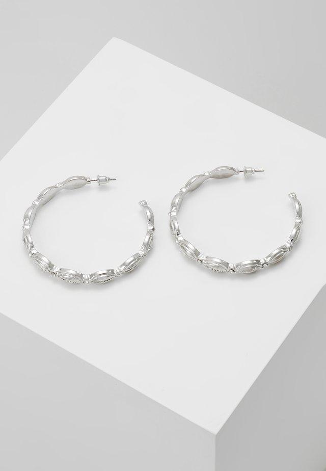 ETHNIC HOOP - Náušnice - silver-coloured