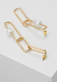ERASE - SQUARE LINK  - Earrings - gold-coloured - 2