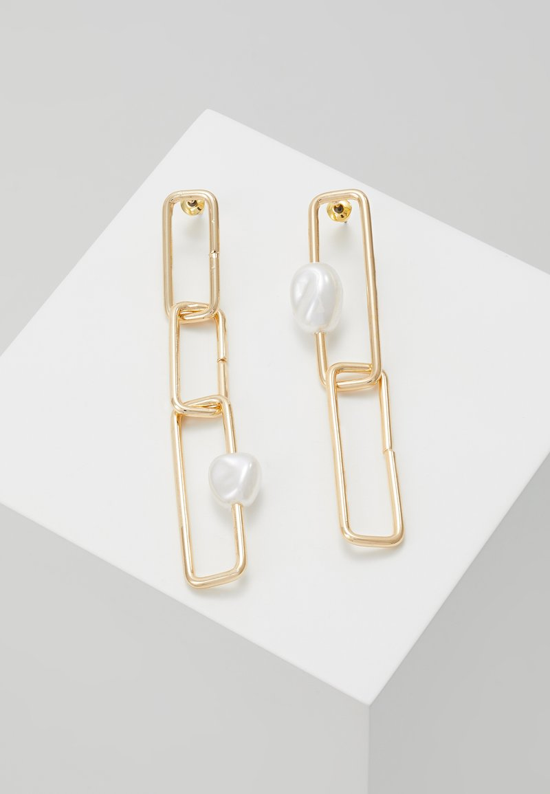 ERASE - SQUARE LINK  - Earrings - gold-coloured