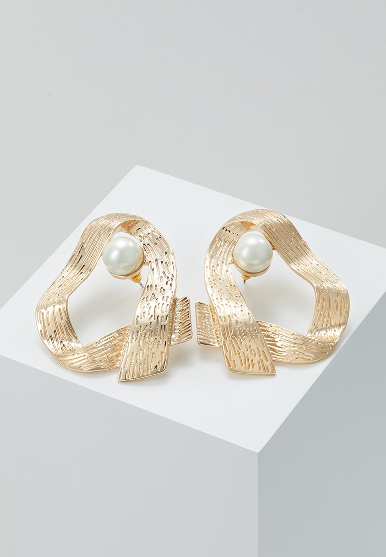 ERASE - OPEN HOOP - Earrings - gold-coloured