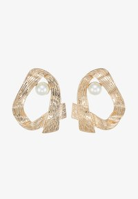 ERASE - OPEN HOOP - Earrings - gold-coloured - 3