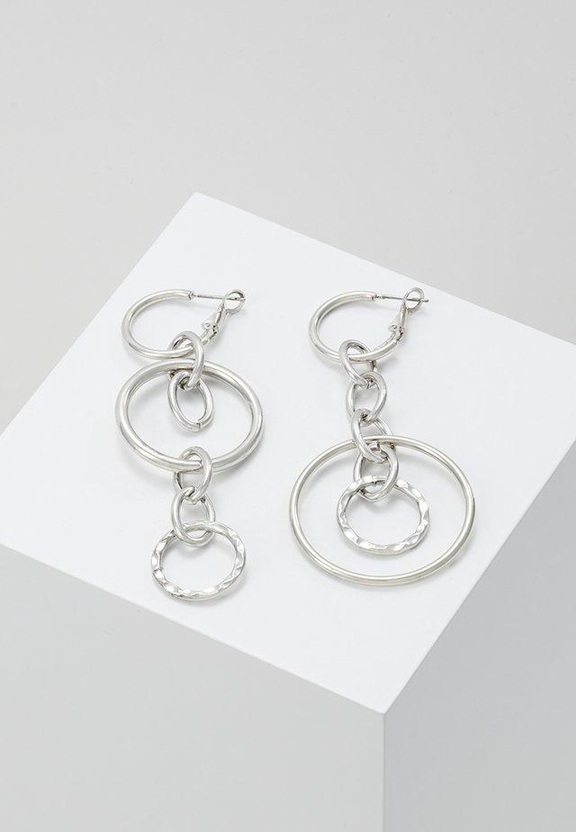 CIRCLE OPEN LINK DROP - Örhänge - silver-coloured
