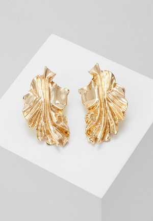 TEXTURED CHUNKY STUD - Earrings - gold-coloured