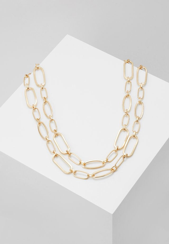 TWO ROW MIXED LINK CHAIN - Ketting - gold-coloured