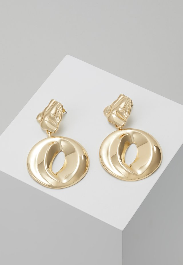 ORGANIC CIRCLE DROP - Øreringe - gold-coloured