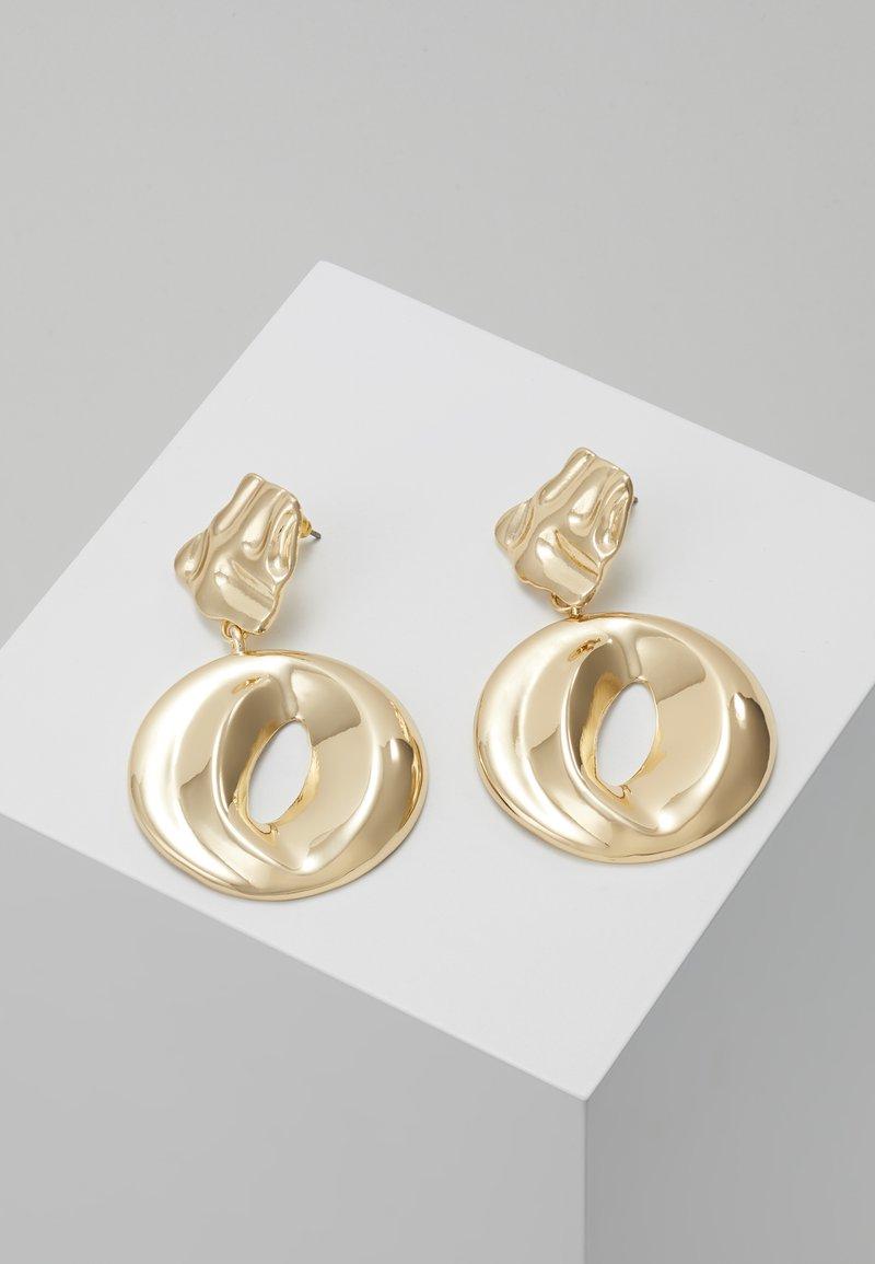 ERASE - ORGANIC CIRCLE DROP - Oorbellen - gold-coloured