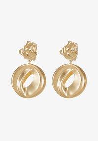 ERASE - ORGANIC CIRCLE DROP - Oorbellen - gold-coloured - 3