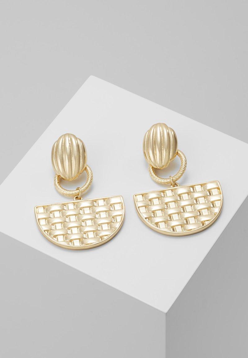 ERASE - SEMI CIRCLE DROP - Boucles d'oreilles - gold-coloured