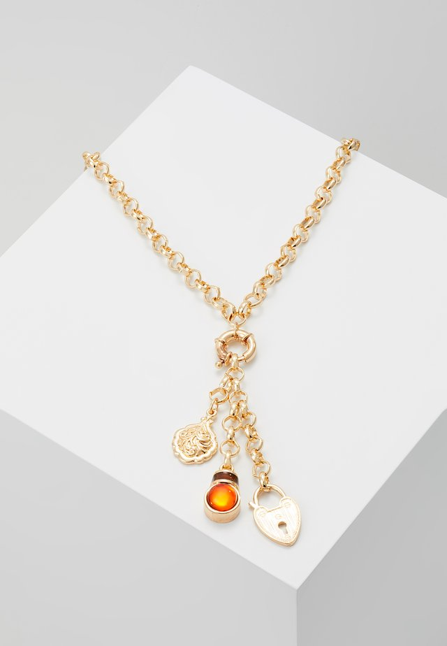 CLUSTER LOCKET ROW NECKLACE - Halsband - gold-coloured