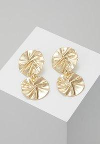ERASE - ORGANIC DOUBLE CIRCLE DROP EARRINGS - Ohrringe - gold-coloured - 0