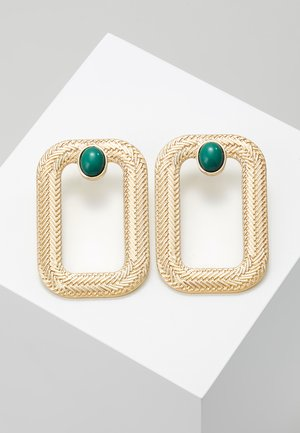 CUTOUT RECTNAGLE - Earrings - green