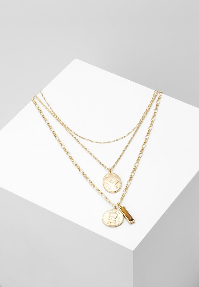 COIN AND LOCKET 2 PACK - Ketting - gold-coloured