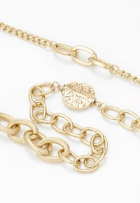 ERASE - OVAL LINK DISK SET - Necklace - gold-coloured - 4