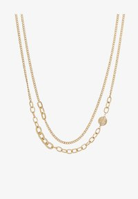 ERASE - OVAL LINK DISK SET - Necklace - gold-coloured