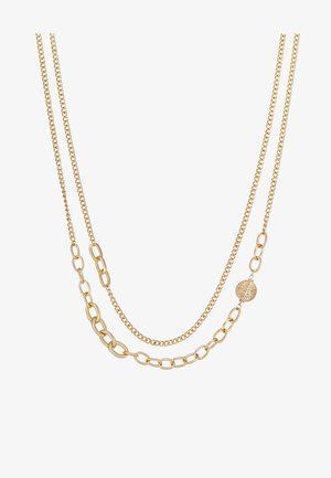 OVAL LINK DISK SET - Collier - gold-coloured