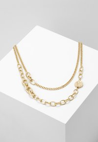 ERASE - OVAL LINK DISK SET - Necklace - gold-coloured - 0