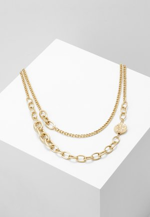 OVAL LINK DISK SET - Necklace - gold-coloured