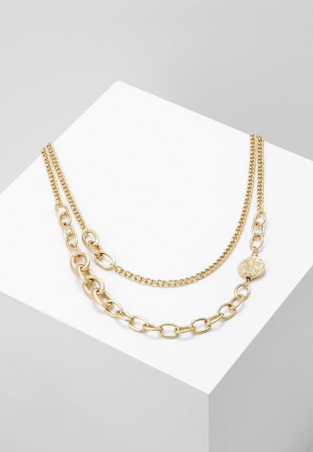 OVAL LINK DISK SET - Necklace - gold-coloured