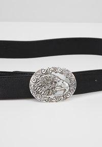 ERASE - EAGLE PLATE BUCKLE BELT - Cinturón - black/silver-coloured - 4