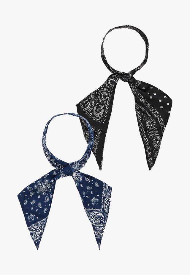 2 PACK SCARF - Tørklæde / Halstørklæder - black/blue