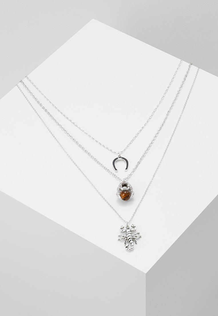 ERASE - WESTERN THREE ROW NECKLACE SET - Collar - silver-coloured