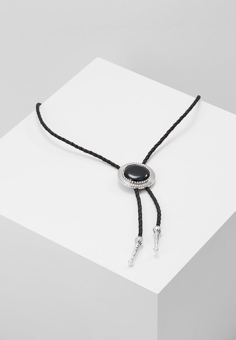 ERASE - ENAMEL INLAY BOLO - Halskette - black
