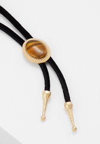 ERASE - TIGERSEYE WESTERN BOLO - Necklace - black - 4