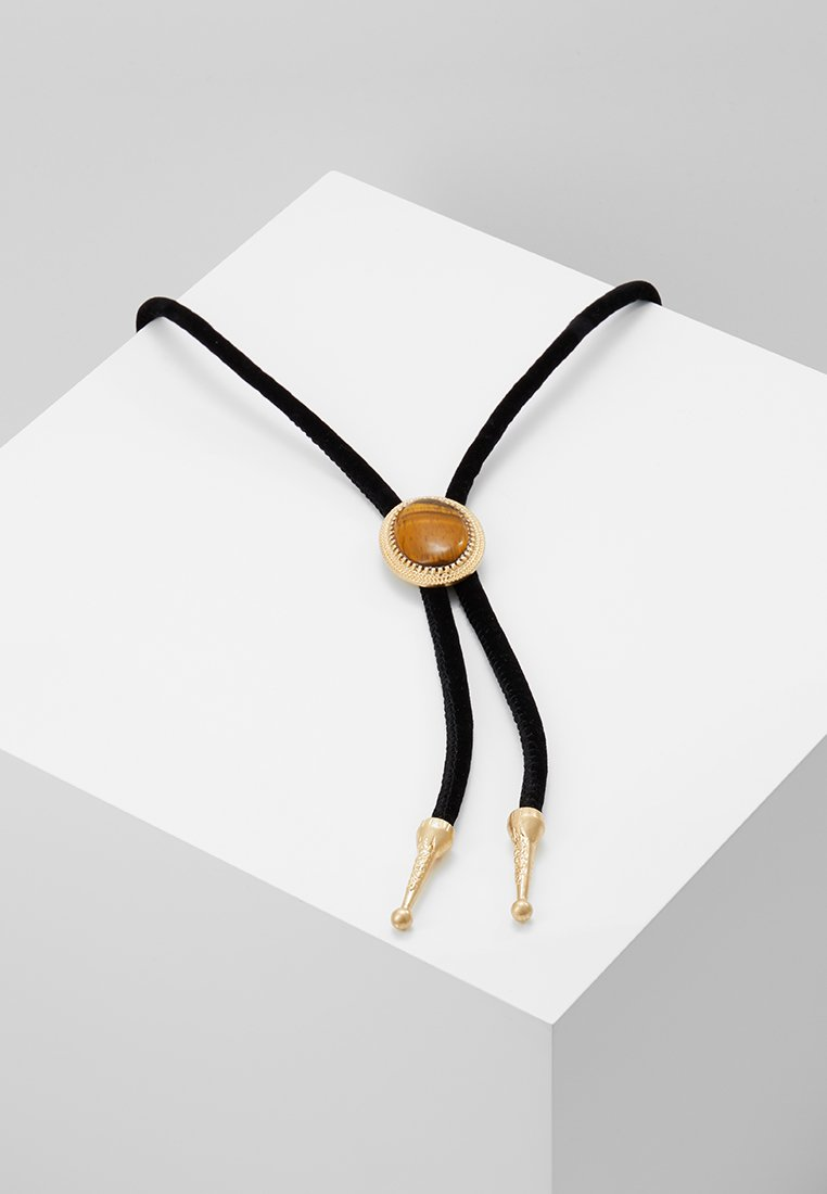 ERASE - TIGERSEYE WESTERN BOLO - Necklace - black