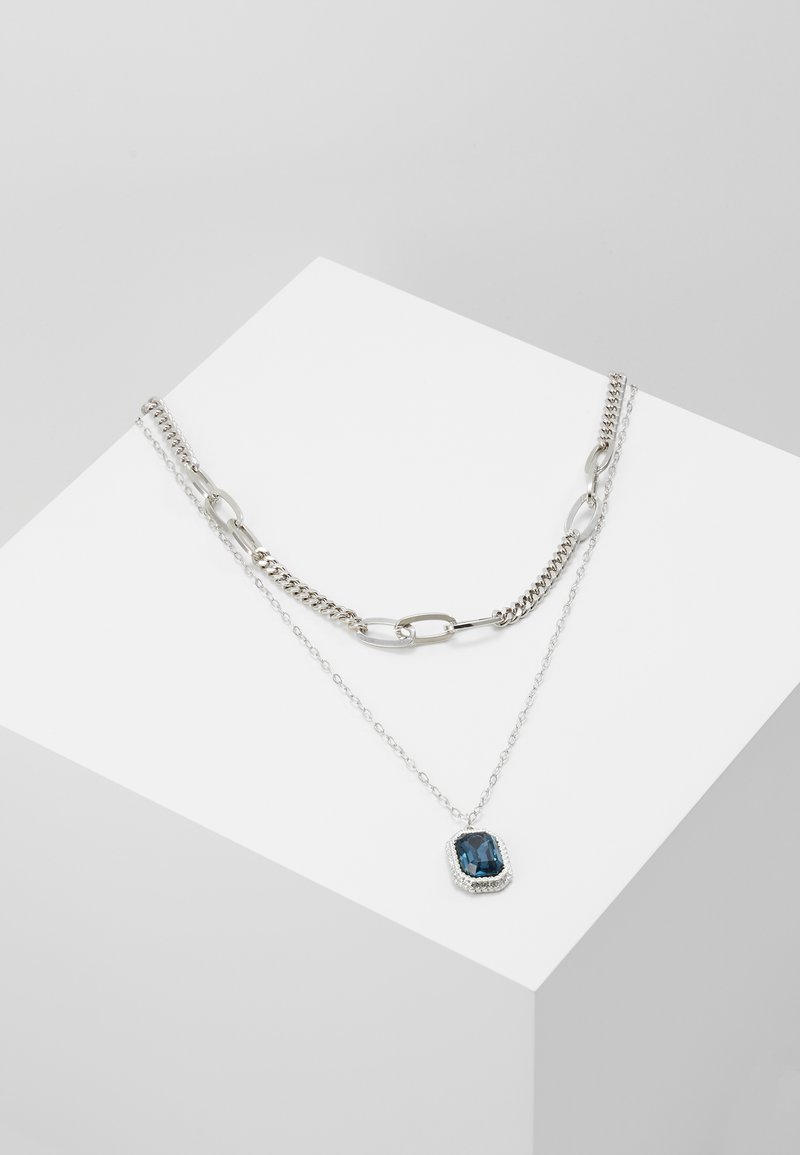 ERASE - STONE CHAIN MULTIROW 2 PACK - Halskette - silver-coloured