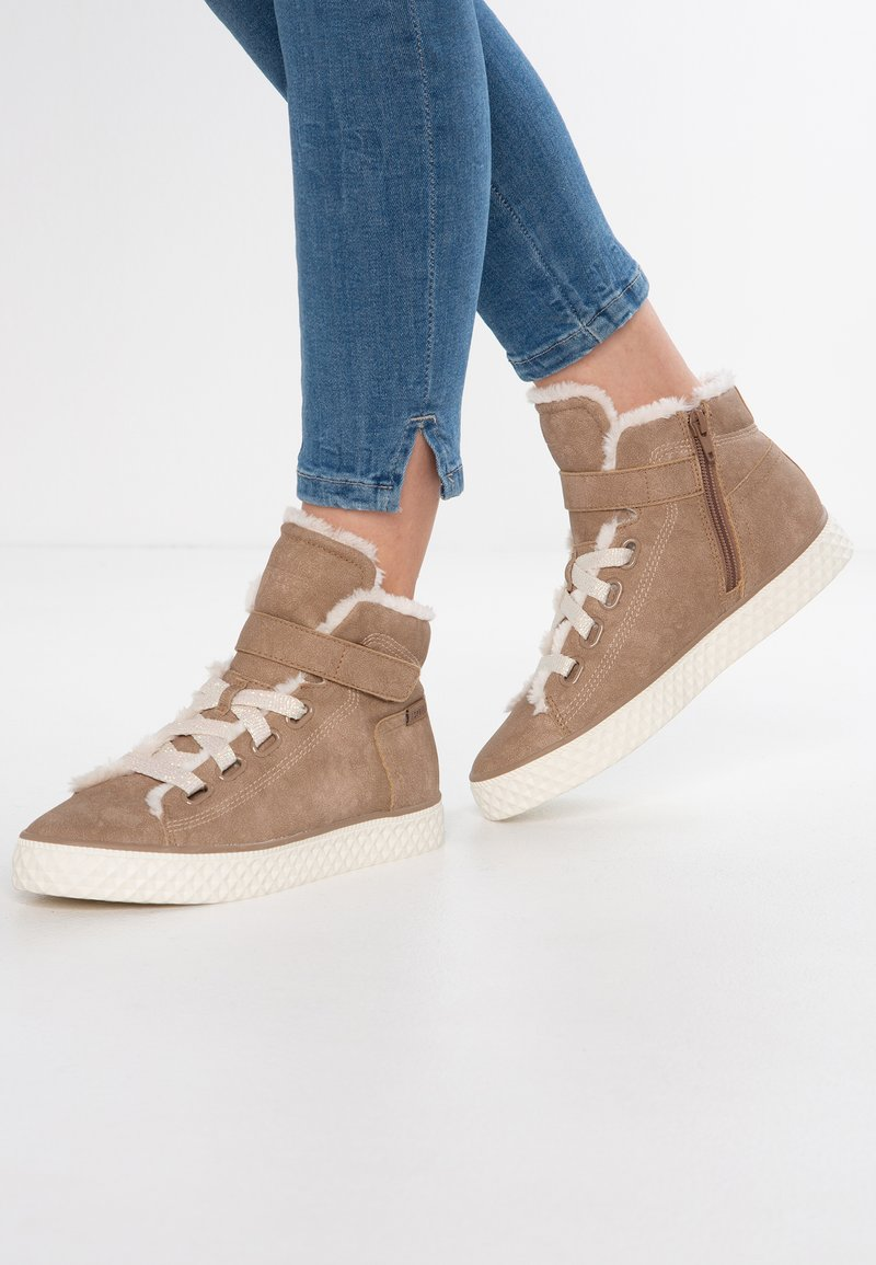 Esprit - INDYA TAPE VEGAN - Sneaker high - taupe
