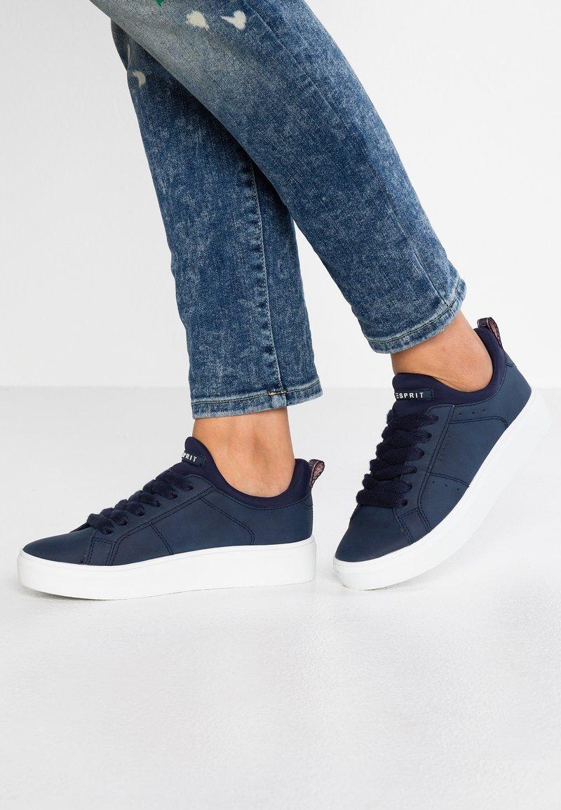 Esprit - ELDA SOCK VEGAN - Sneakers basse - navy