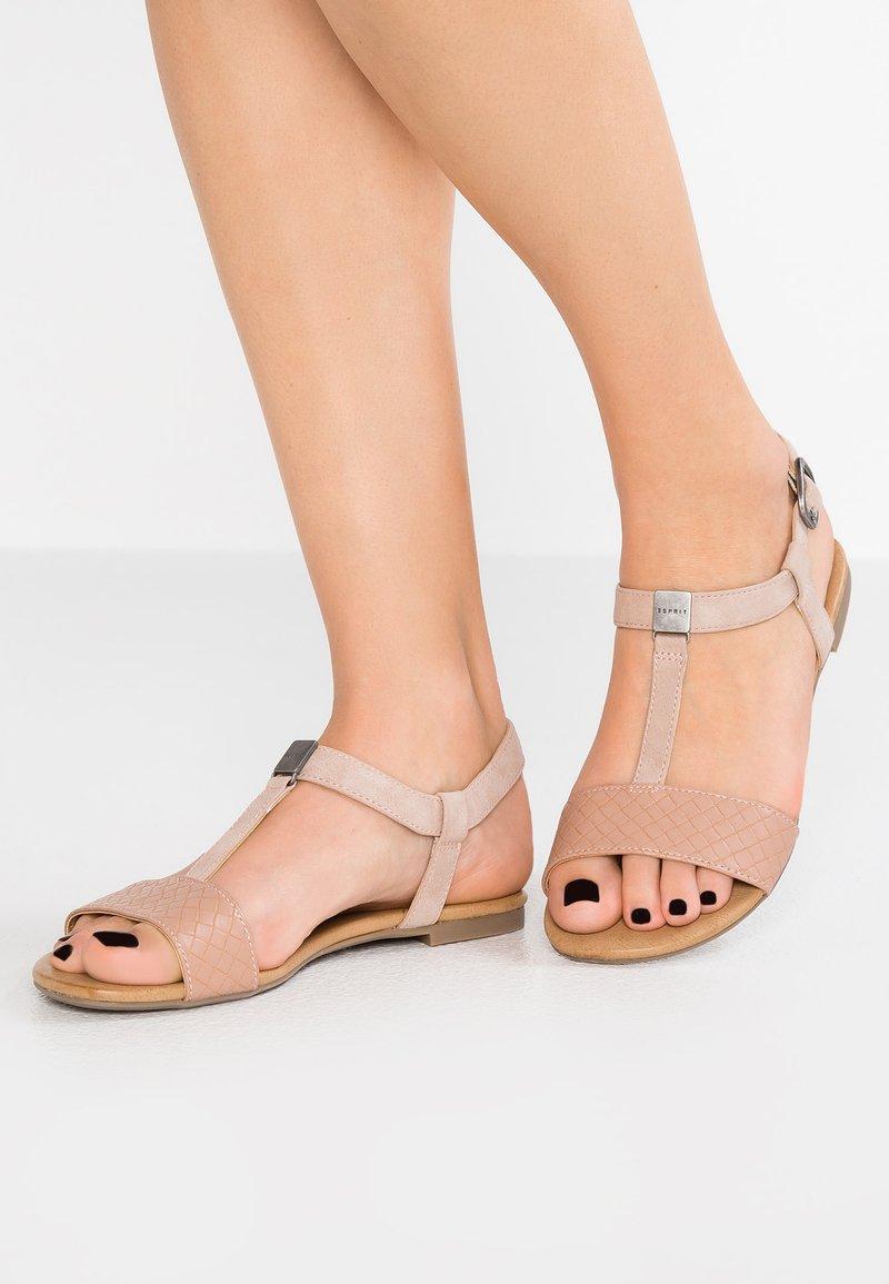 Esprit - PEPE VEGAN - Sandals - dark old pink