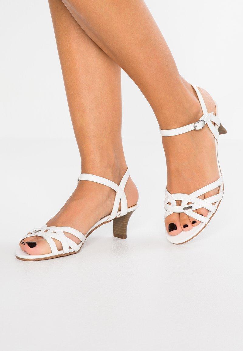 Esprit - BIRKIN VEGAN - Sandals - white