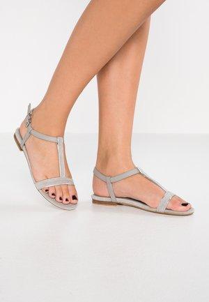 CHERIE T-STRAP - Sandals - grey