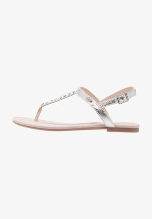 PEPE THONG - T-bar sandals - silver