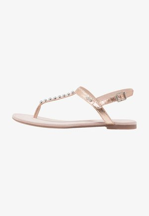 PEPE THONG - T-bar sandals - dusty nude
