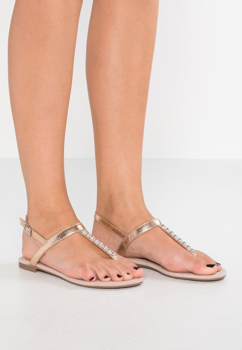 Esprit - PEPE THONG - Zehentrenner - dusty nude