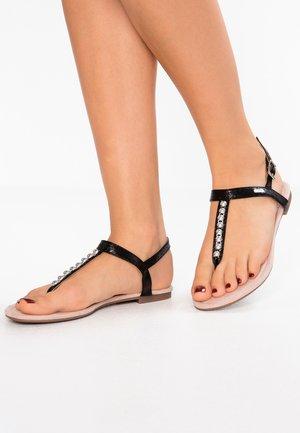 PEPE THONG - T-bar sandals - black
