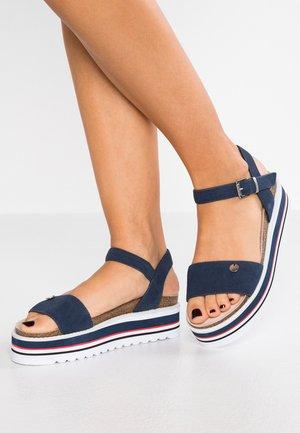 ABIA PLAT - Platform sandals - navy