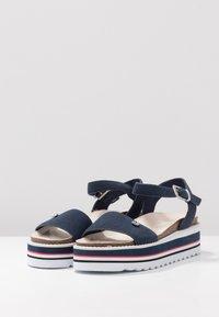 Esprit - ABIA PLAT - Platform sandals - navy - 4