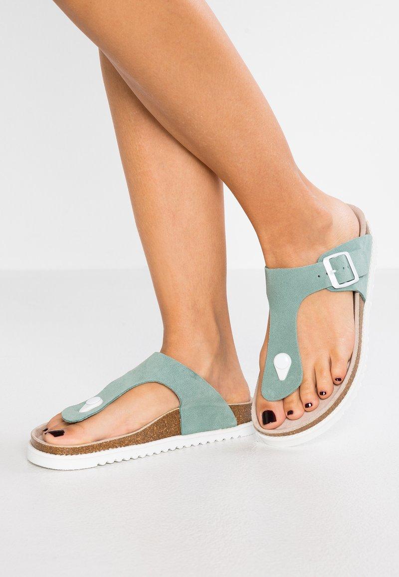 Esprit - MELLY THONG - T-bar sandals - light aqua green