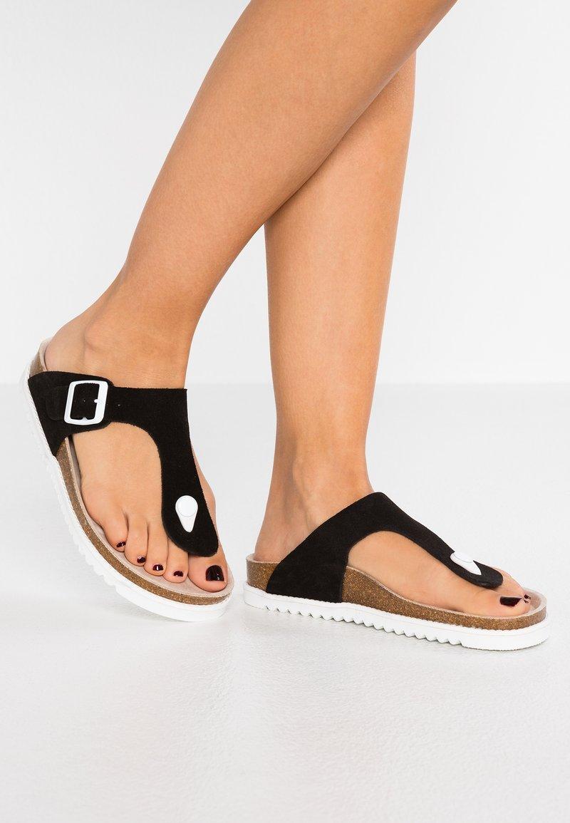 Esprit - MELLY THONG - T-bar sandals - black
