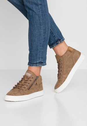 CHERRY ZIP VEGAN - Sneakers high - toffee