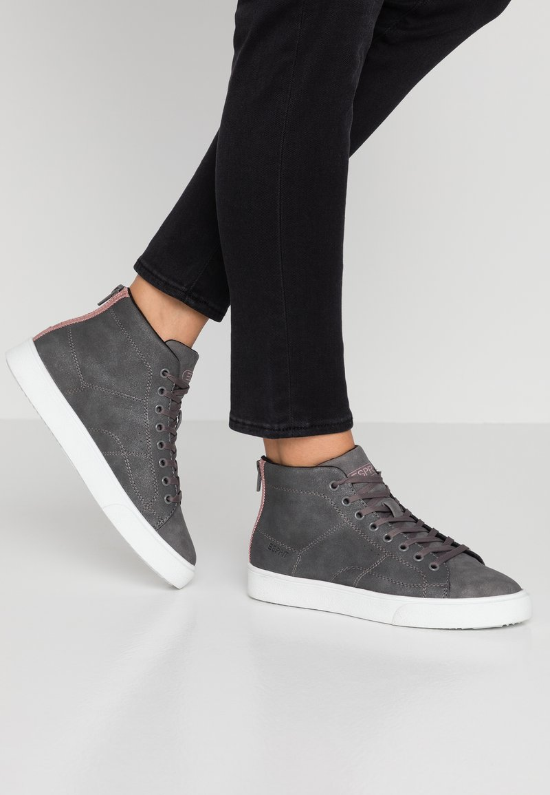Esprit - CHERRY ME VEGAN - High-top trainers - gunmetal