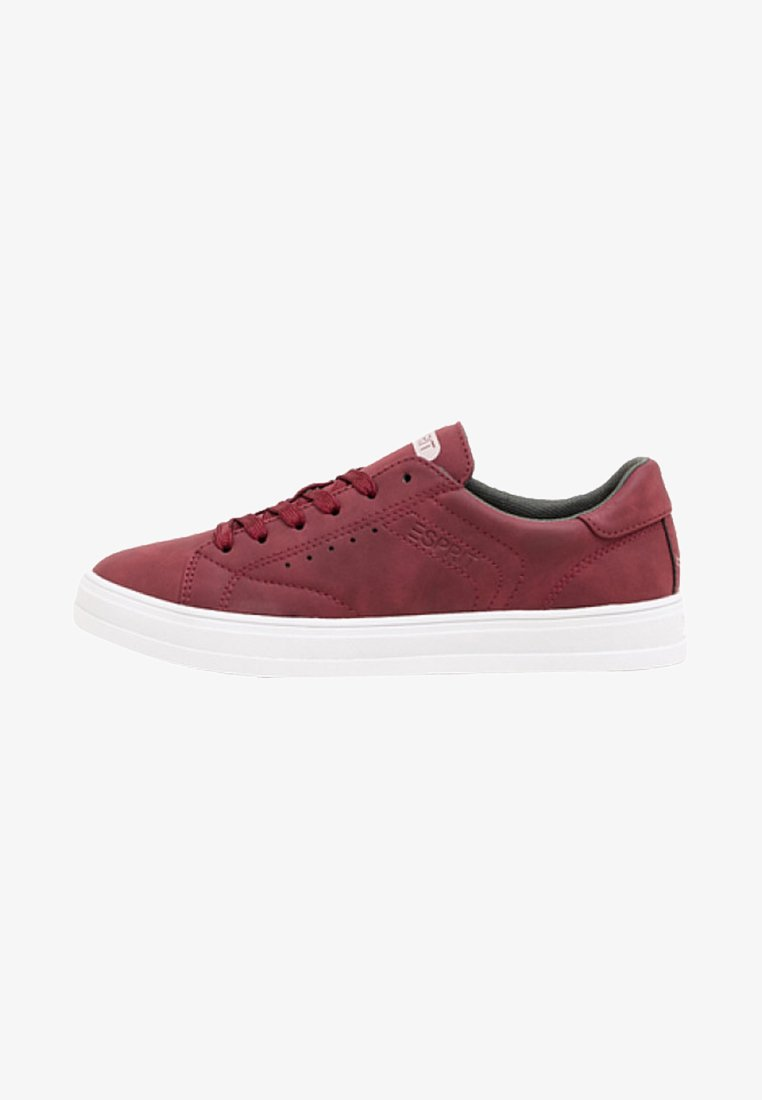 Esprit - VEGANGER NUBUK-OPTIK - Sneaker low - burgundy red