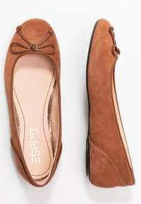 Esprit - ALYA LEA BOW - Ballet pumps - rust brown - 3