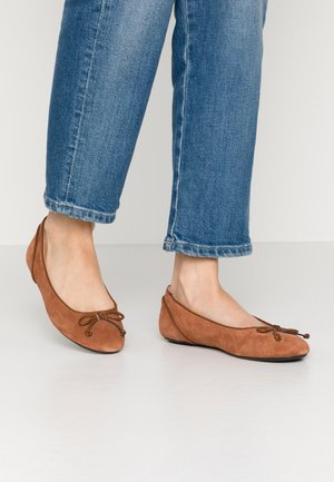 ALYA LEA BOW - Ballet pumps - rust brown