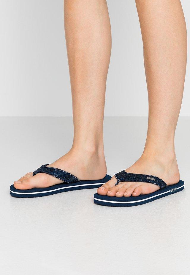 GLITTER THONGS - T-bar sandals - navy